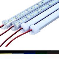 LED Luces de la barra del tubo del LED DC12V 5630 LED de la tira dura 0.5m 1m con U carcasa de aluminio + cubierta de la PC