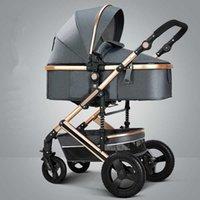 Ligera de Lujo cochecito de bebé 3 en 1 portátil de alta paisaje reversible del cochecito caliente mamá Rosa carro de desplazamiento del cochecito de niño