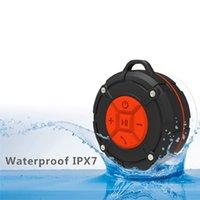 Duş hoparlör IPX7 su geçirmez bluetooth mini hoparlör, taşınabilir vantuz, açık plaj yüzme için eller serbest banyo hoparlör