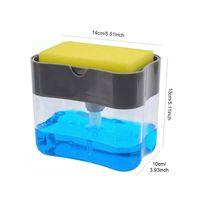 cucina Detergente Detergente Storage Box Spugna Portasapone Accessori Cucina Attrezzi di pulizia automatico per liquidi Box paglietta EEA1888