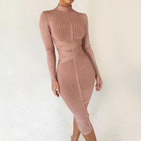 Seamyla New Sommer Bodycon Bandage Kleider 2020 Langarm Sexy Midi Sommerkleid Frauen Club Celebrity Party Kleid Vestidos