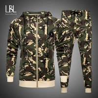 2020 Sport Suit Men Camouflage Sports Suits Loose Tracksuits...