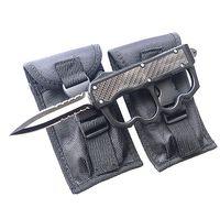 Lieferant Großhandel 4-Modell im Freien kampierende taktischen Messer Kohlefaser Griff tanto / Wassertropfen Blatt mit taktischer Messerhülse