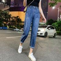 yitimoky новые джинсы женщина элегантный синий винтаж мама джинсы высокой талии случайные шаровары кутюр 2020 джинсовые брюки
