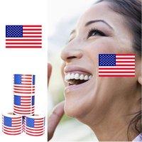Americana cara de la bandera Etiqueta 2020 Estados Unidos del presidente de la bandera Material Ambiental pegatinas YYA322 100pcs