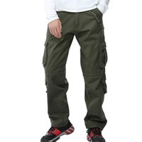 Men Outdoor Fleece Tactical Cargo Pants Loose Thicken Multi-pocket Thermal Fishing Trousers Hiking Trekking Climbing Pants