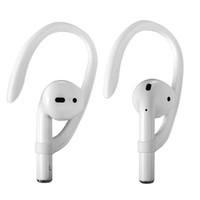 100pcs / 50 çift Airpods Apple Kablosuz Kulaklık Aksesuarları Silikon Spor Anti-kayıp Kulak Hook Fit Hooks Güvenli Koruyucu boynuz tipi