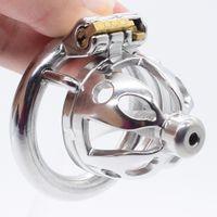 NUUN de metal galo gaiola pequena pénis brinquedos gaiola adultos do sexo para homens testículos aço inoxidável macho castidade gaiola anel de galo anel pénis CX200722