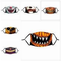 2020 NUOVO Clown maschera di protezione Maschere Bocca Sport Cotone Moda Droll riutilizzabile Teschio Bandiera digitale con 1pcs filtro Maschere Designer IIA334