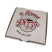 Hot sale boîte à pizza en carton ondulé blanc avec logo personnalisé