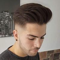 """Remy Cabello humano Europeo Bisoñes para los hombres con la piel fina y transparente de la PU de 10"""" x 8"""" Straight Hairfor para hombre de la peluca"""