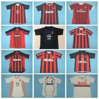 1994 1995 1997 1997 1998 CA rétro Milan Jersey de football Vintage Beckham Boban Shevchenko Barsi Ruicosta Weavic Savicevic Football Shirt Kits
