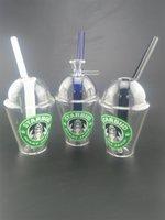 Nach Maß Starbucks Cup Glass bong Mini Wasserrohre dap rig und Bohrinseln 4.5inches Glas Bongs Shisha Rauch Zubehör