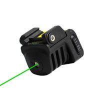 Pistola recargable USB Mini engranaje militar táctico táctico láser rojo / verde para la pistola compacta de casi pistola