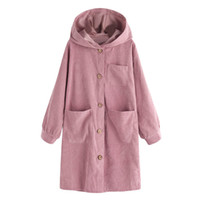 Hooded Pockets Womens Trench Coats Spring Autumn Solid Color...