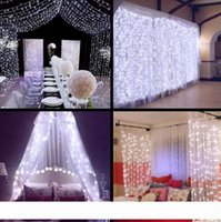 크리스마스 조명 3x3 6x3m 300 LED 고드름 문자열 조명 LED 크리스마스 요정 조명 웨딩 파티 커튼 정원 장식을위한 야외 홈