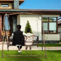 Loisirs et confortable Chaise à bascule Patio Bancs Pinceau Pinceau Pinceau Gold Epuisé Jardin extérieur Fer Art Art Couple Black Couple Swing