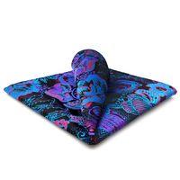 DH13 Multicolor Abstract Mens Pocket Square Silk Fashion Wedding Handkerchief Classic Brand New Hanky