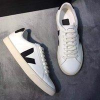 Nuevas zapatillas de deporte extra de cuero para hombre Mujeres Esplar Calfskin Entrenadores Moda Blanco Blanco Chaussures Zapatos transpirables US4-11