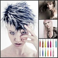 2020 Girls 'Popular Produkt 16 cali Ombre Kolor Syntetyczny Feather Hair Extension Pack Color Feather Hair Extension