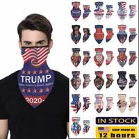 16 Designs 2020 Make America Encore une fois pour le président Donald Trump États-Unis Élection extérieure Bandeaux Triangle Foulards Sports Cyclisme Vêtements FY6070