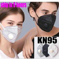 kn95 factory de máscara empaquetado al por menor de filtro 95% 6 capa máscaras de respiración mascarilla diseñador carbón activado Respirador válvula Mascherine