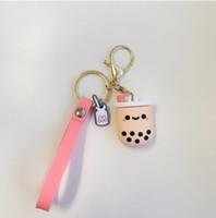 لطيف الهاتف حزام قلادة الهاتف النقال سحر بوبا فقاعة الشاي سلسلة المفاتيح حلقة الشريط على الحبل للحصول على بطاقة هوية مفتاح USB الشريط