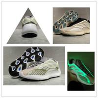 2 Azael 판매 빛남에서 어둠의 높은 품질 올바른 버전 카니 예 웨스트 (Kanye West) 남자 여자가 상자 신발을 실행하기위한 700 개 V3 디자이너 신발