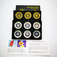 EMF 퓨전 전화 스티커에서 음이온 안티 방사선 보호와 6PCS / 박스 라운드 스칼라 Quantu m 쉴드 에너지 스티커