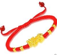 Das mythische wilde Tier Armband buddhistischen Perlen Hand Strings Gold Onyx Vergoldung für Männer und Frauen Paare Bead Männer Kopf Schm übertragen