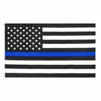 Bandeira dos EUA atacado direto da fábrica 3x5Fts 90cmx150cm Law Enforcement Officers EUA US americano Polícia finas Bandeira Azul Linha EEA1786
