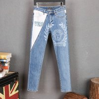 2020 Mens Designer Jeans skinny ripped Stretch Slim west hip...