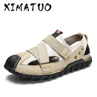 2020 New Summer Flip Flop Men Breathable High Quality Leathe...