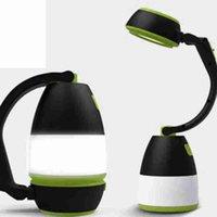 Lâmpadas de mesa multifuncional 3 em 1 Tent Lâmpada LED Camping Lâmpada Luz de emergência Início recarregável portátil Lanternas ZZA2336