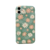 Art Retro Oil Painting Daisy Flowers Phone Case For iPhone 1...