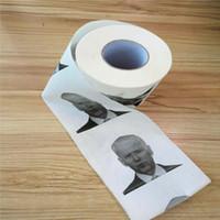 Nouveauté Joe Biden toilettes rouleau de papier Mode drôle Humour Cadeaux de bâillon Cuisine Salle de pâte de bois toilette imprimé Tissue Serviettes en papier DBC BH3890