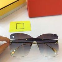 Üst Kalite Güneş Büyük Boy Marka Tasarımcı Sunglass Kadınlar Kedi Göz Güneş Gözlükleri Kelebek UV 400 Mercek Tek Parça Mercek 1168