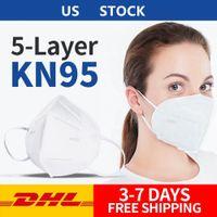 En stock! Pliant Masque visage avec la boîte anti-poussière Masques de protection face 5 couches Masques bouche rapide DHL Livraison gratuite De Etats-Unis