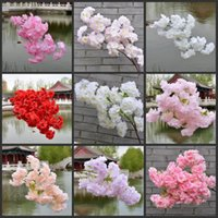 100CM Cherry Plum Blossom Artificial Silk flowers flores Sakura tree branches Home table living room Decor DIY Wedding Decoration