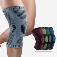 1pcs genou Patella Protecteur Brace silicone ressort coussin pour les genoux de basket-ball en cours de compression manches soutien sport genouillères