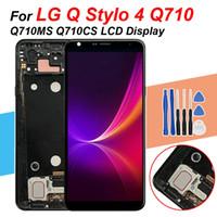 Paneles táctiles del teléfono celular 100% probados 6.2 pulgadas para LG Q STYLO 4 Q710 Q710MS Q710CS Pantalla LCD Digitalizador de ensamblaje con marco + herramientas