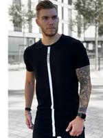 Verano Hombre Camiseta Seda camiseta de la corto para hombre jogging Camisas Camisetas Sik camisa de los hombres camiseta remata tes