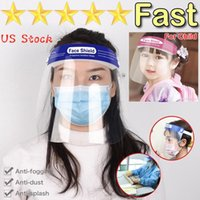 US Stock !Transparent Face shield Safety Kids Protective Gog...