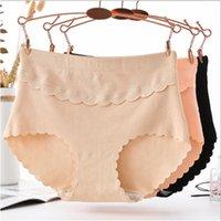 New Comfortable Breathable High Waist Cotton Raised Mid-High Waist Abdomen XL Simple Women's Triangle Panties 3PCS