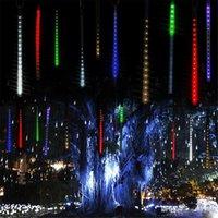 Многоцветный 30см 50см метеорного дождя Tubes LED Рождественские огни Свадеб свет сада Xmas свет шнура Открытый