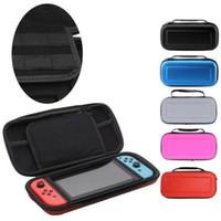 Lleva la caja caja con la manija para el caso bolsa de transporte Interruptor de Nintendo consola de juegos protector duro EVA dura protectora del caso del recorrido
