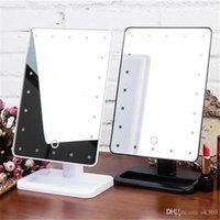 Schönheit kosmetische Make Up Beleuchtet Desktop-Ständer Spiegel mit 20 LED-Licht mit Exquisite und elegante Erscheinung Top-Qualität