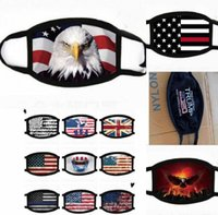 Nueva Trump 2020trump máscara bandera de Estados Unidos prueba de viento caliente de máscara de los hombres y las mujeres otoño e invierno máscara WY1415