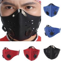 Cycling Mask 3 Colors Double Breathing Valve Mask Outdoor Windproof Cycling Masks without Replaceable Activated Carbon Filter CCA12368