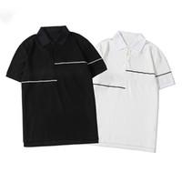 Mode d'été Hommes ligne Polo à manches courtes de haute qualité hommes et femmes Polo en coton Taille S-2XL
